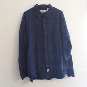Levi's long sleeve blue plaid shirt